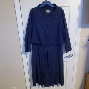 Lindy Bop navy blue 2 piece vintage inspired dress
